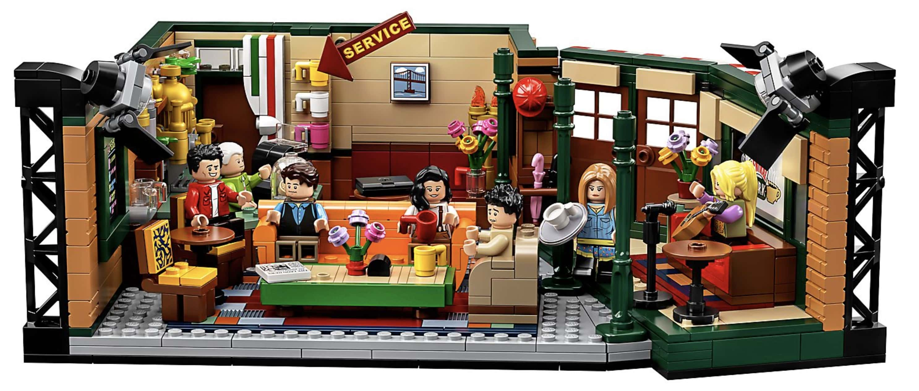 A photo of the assembled Lego set number 21319, Friends Central Park
